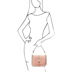 Елегантна кожена чанта TL141598-04