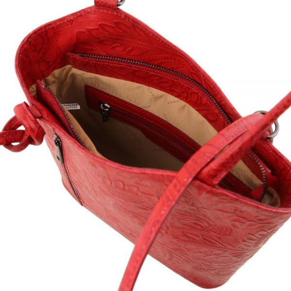 Елегантна кожена чанта TL141676-10