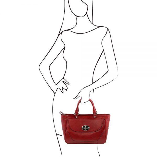 Дамска кожена чанта TL141226-03