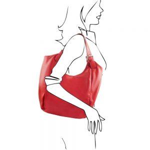 Дамска кожена чанта TL141357-04