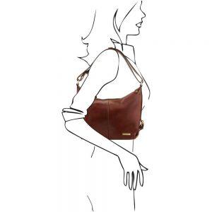 Дамска кожена чанта TL141479-04