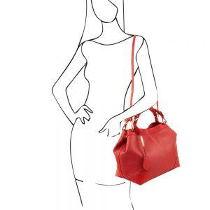 Дамска кожена чанта TL141516-09