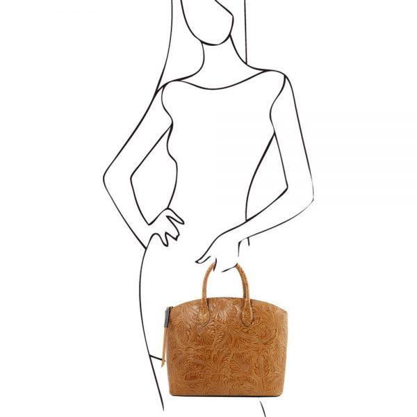 Дамска кожена чанта TL141670-05