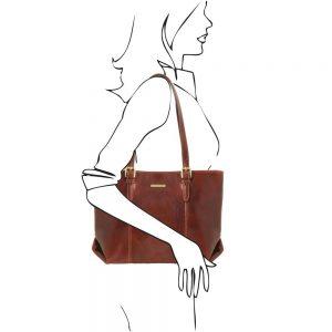 Дамска кожена чанта TL141710-03
