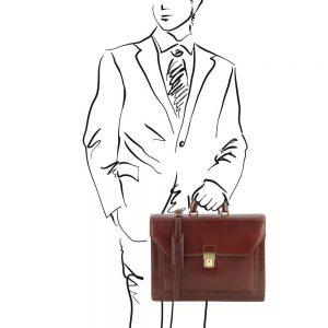 Кожена бизнес чанта NAPOLI TL141348-04