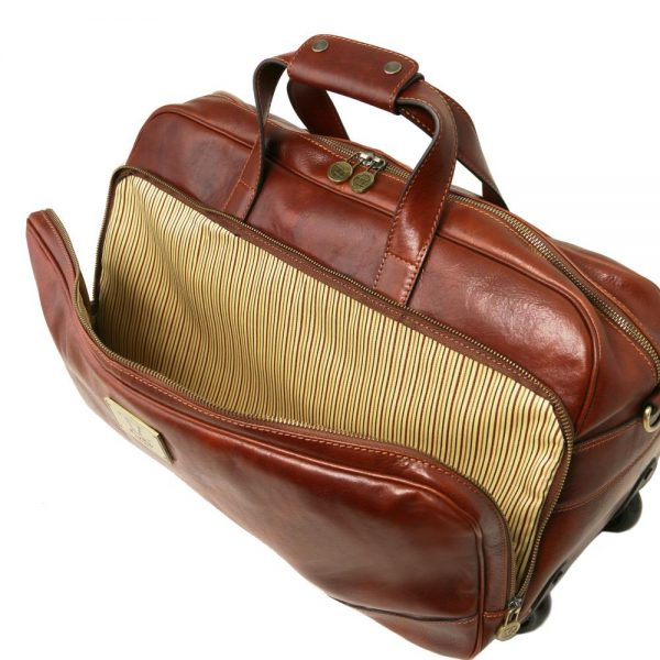Кожена чанта с колелца SAMOA TL141453-03