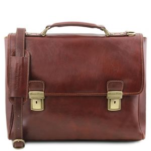 Кожена чанта за лаптоп TRIESTE TL141662-01