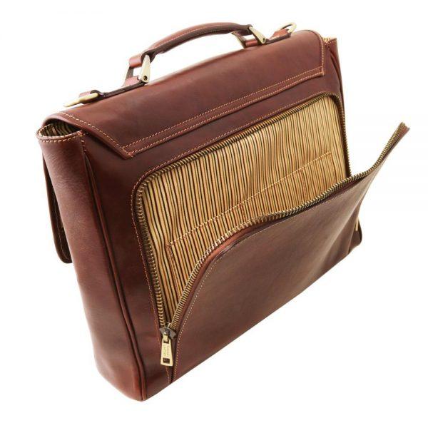 Кожена чанта за лаптоп TRIESTE TL141662-02