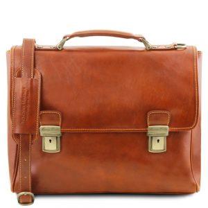 Кожена чанта за лаптоп TRIESTE TL141662-03