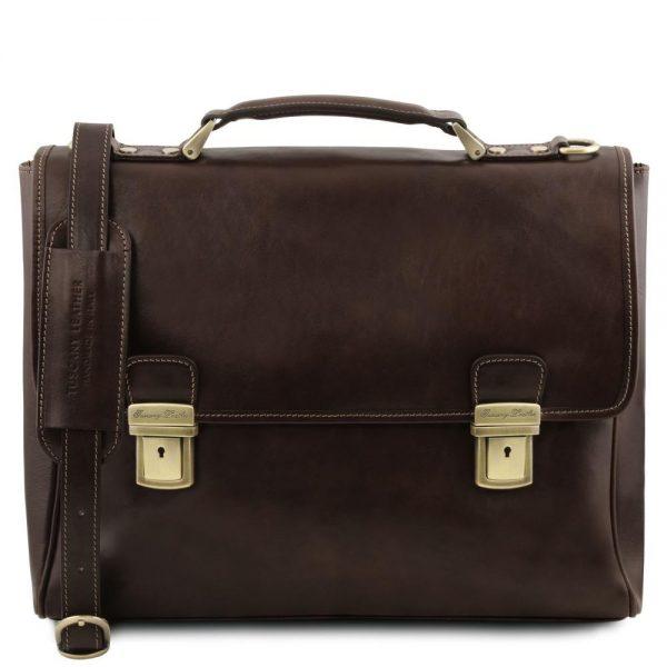 Кожена чанта за лаптоп TRIESTE TL141662-05