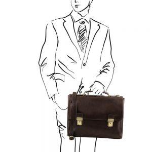 Кожена чанта за лаптоп TRIESTE TL141662-06