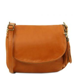 Кожена чанта за рамо TL141223-03