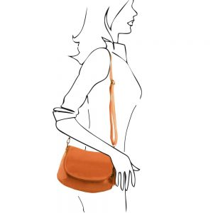 Кожена чанта за рамо TL141223-04