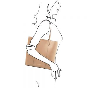 Кожена чанта за рамо TL141439-04