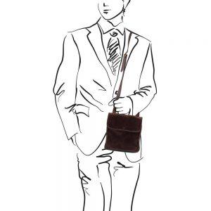 Кожена мъжка чанта за рамо JOE TL140987 - цял ръст
