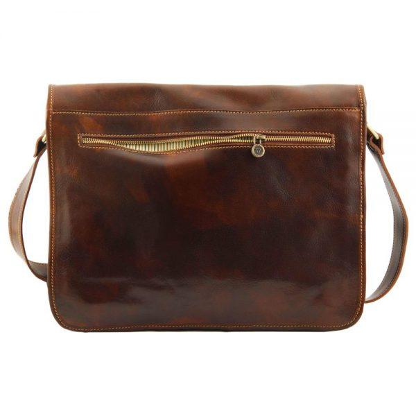 Кожена мъжка чанта за рамо MESSENGER DOUBLE TL90475-01