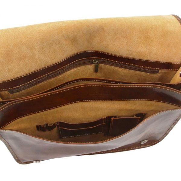 Кожена мъжка чанта за рамо MESSENGER DOUBLE TL90475-02
