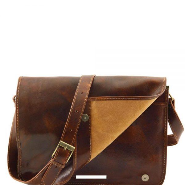Кожена мъжка чанта за рамо MESSENGER DOUBLE TL90475-04