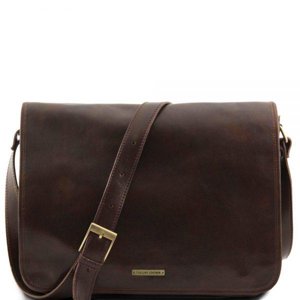 Кожена мъжка чанта за рамо MESSENGER DOUBLE TL90475-07