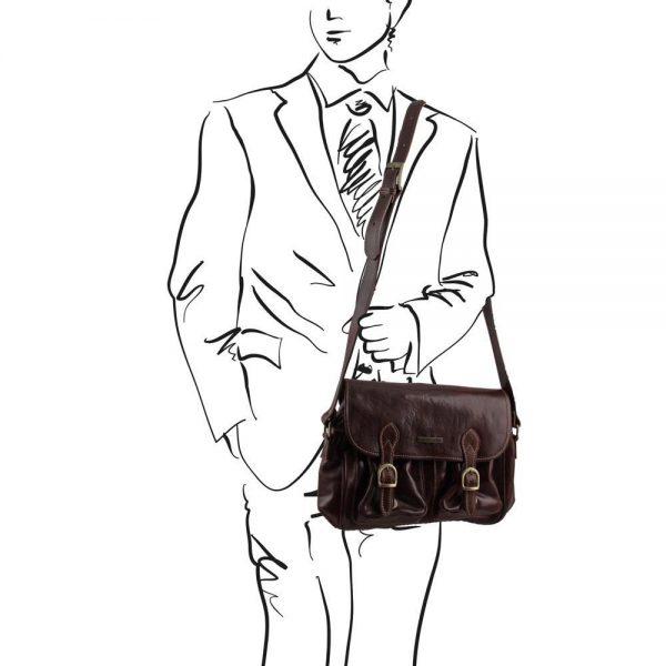 Кожена мъжка чанта за рамо SAN MARINO TL10180-03