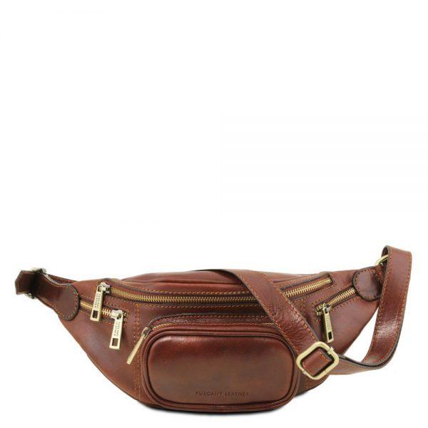 Кожена мъжка чантичка за кръст Leather Fanny Pack TL141305-01