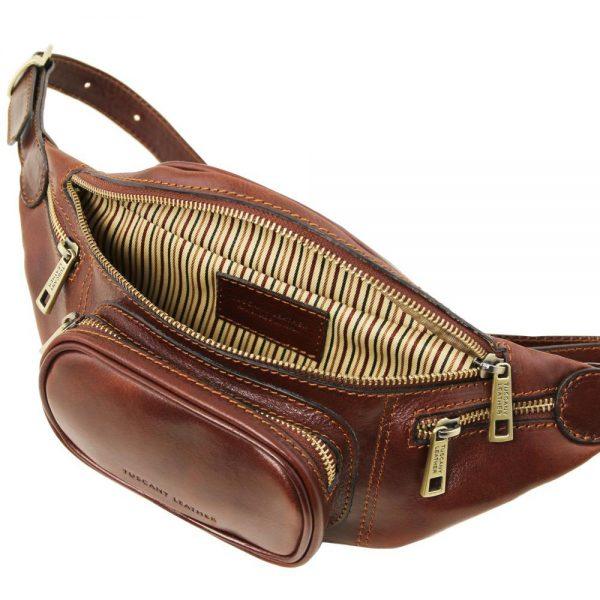 Кожена мъжка чантичка за кръст Leather Fanny Pack TL141305-02