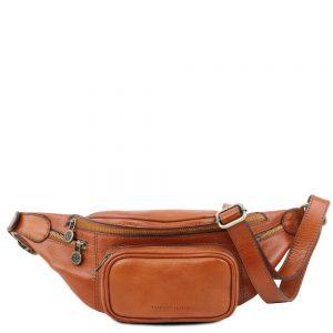 Кожена мъжка чантичка за кръст Leather Fanny Pack TL141305-05