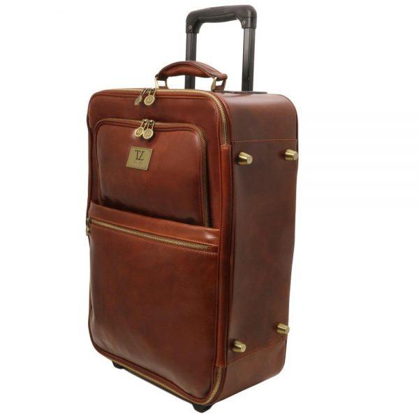 Кожена вертикална чанта с колелца TL VOYAGER TL141389-01