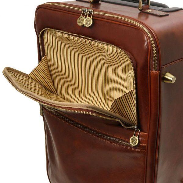 Кожена вертикална чанта с колелца TL VOYAGER TL141389-03