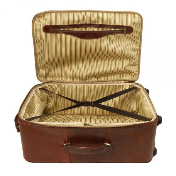 Кожена вертикална чанта с колелца TL VOYAGER TL141389-04