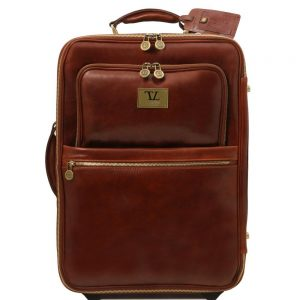 Кожена вертикална чанта с колелца TL VOYAGER TL141389-05
