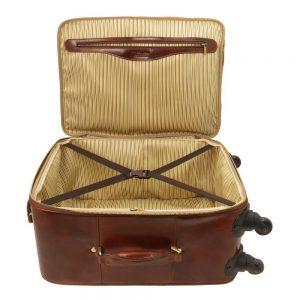 Кожена вертикална чанта с колелца TL VOYAGER TL141390-04