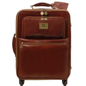 Кожена вертикална чанта с колелца TL VOYAGER TL141390-05