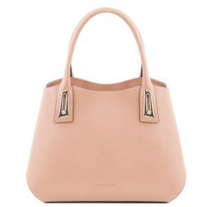 Луксозна дамска кожена чанта FLORA TL141694-04