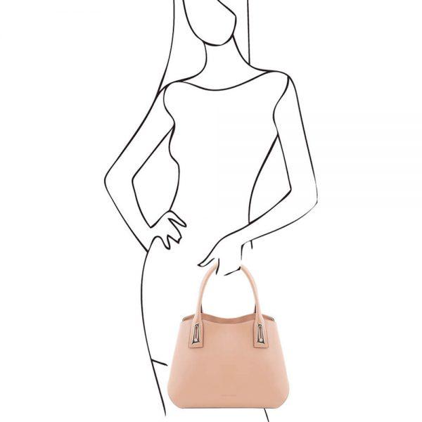 Луксозна дамска кожена чанта FLORA TL141694-05