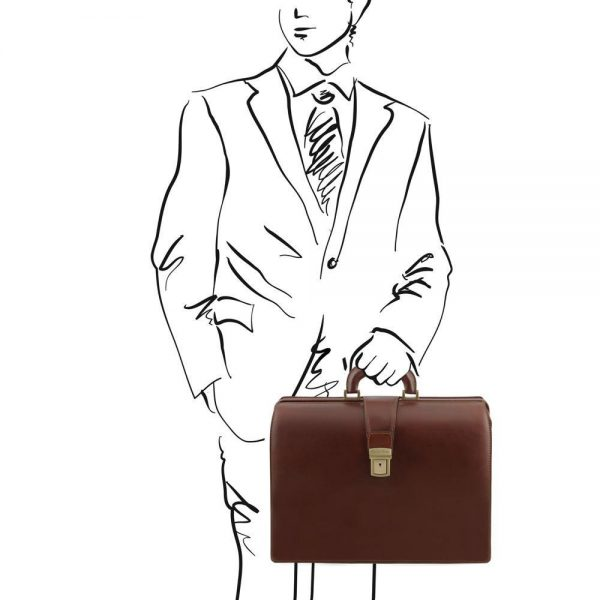 Мъжка кожена бизнес чанта CANOVA TL141347-04