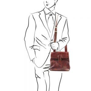 Мъжка кожена чанта за през рамо ANDREA TL9087-04