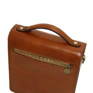 Мъжка кожена чанта за през рамо DAVID TL141425-01