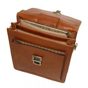 Мъжка кожена чанта за през рамо DAVID TL141425-02