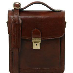 Мъжка кожена чанта за през рамо DAVID TL141425-05