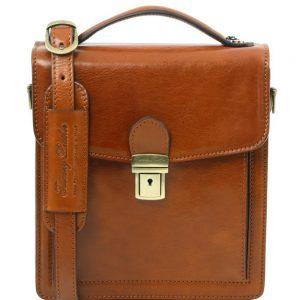 Мъжка кожена чанта за през рамо DAVID TL141425-07