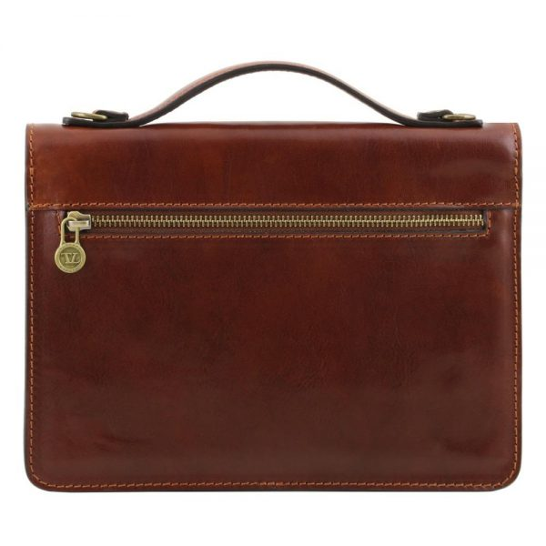 Мъжка кожена чанта за ръка и рамо ERIC TL141443-01
