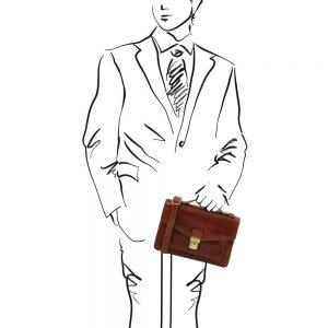 Мъжка кожена чанта за ръка и рамо ERIC TL141443-03