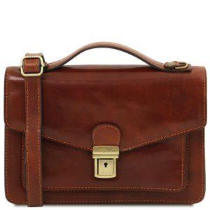 Мъжка кожена чанта за ръка и рамо ERIC TL141443-04