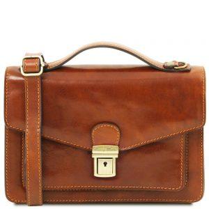 Мъжка кожена чанта за ръка и рамо ERIC TL141443-05