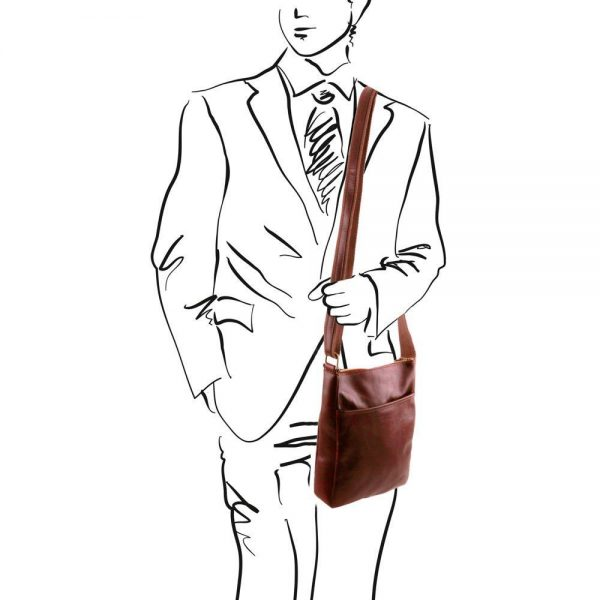 Мъжка кожена чанта за рамо JASON TL141300-04
