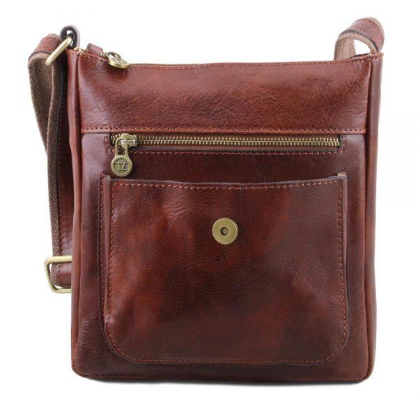 Мъжка кожена чанта за рамо JIMMY TL141407-01