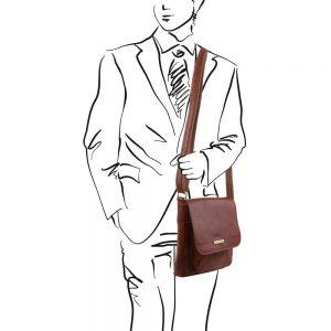 Мъжка кожена чанта за рамо JIMMY TL141407-04