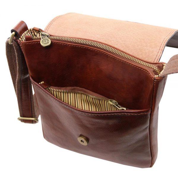 Мъжка кожена чанта за рамо JOHN TL141408-02