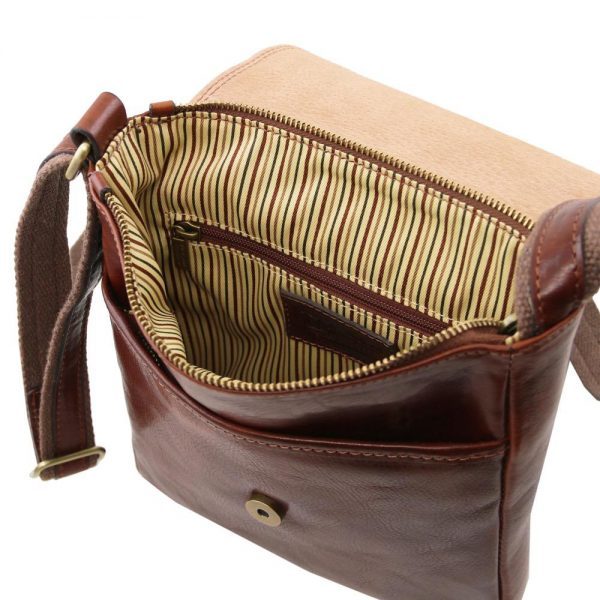 Мъжка кожена чанта за рамо JOHN TL141408-03
